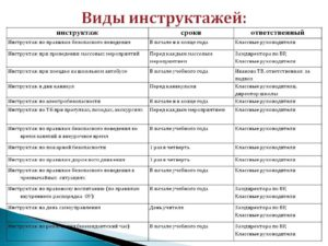 Виды инструктажей по бдд порядок и сроки их проведения