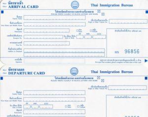 Миграционная карта в тайланде бланк чистый скачать