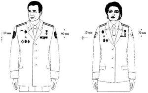 Как правильно разместить на кителе полиции нагрудные знаки и медали