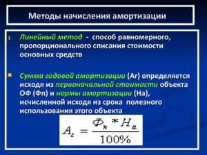 Калькулятор расчета амортизации основных средств линейным способом