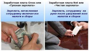 Гросс и нетто зарплата в чем разница