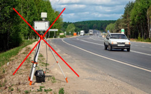 Законно ли установка треноги на трассе