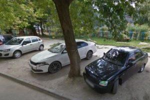 Парковка на зеленой зоне штраф казань