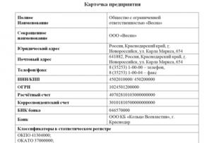 Карточка партнера для ип грузоперевозки образец