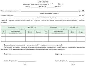 Форма акт выверки объемов работ