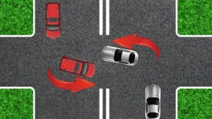 Как разъезжаться на перекрёстке при повороте налево