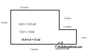 Как посчитать квадратные метры потолка