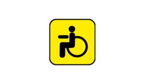 Знак инвалида на машину распечатать