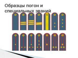 Звания на погонах мчс