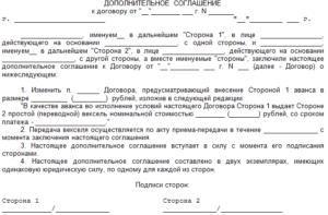 Соглашение о замене стороны в договоре образец бланк