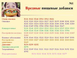 Пищевая добавка е1520 вредная или