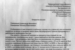 Как написать письмо в следственный комитет бастрыкину