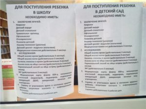 Какие документы нужны для поступления в садик в москве