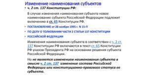 Порядок изменения состава и названия субъектов российской федерации