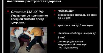 Статья за нанесение побоев и хулиганство