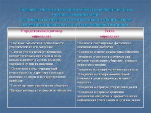 Отличие учредительного договора от устава