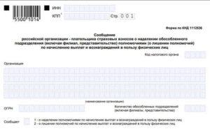 Образец заполнения форма 1112536
