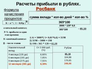 Как посчитать прибыль в процентах формула